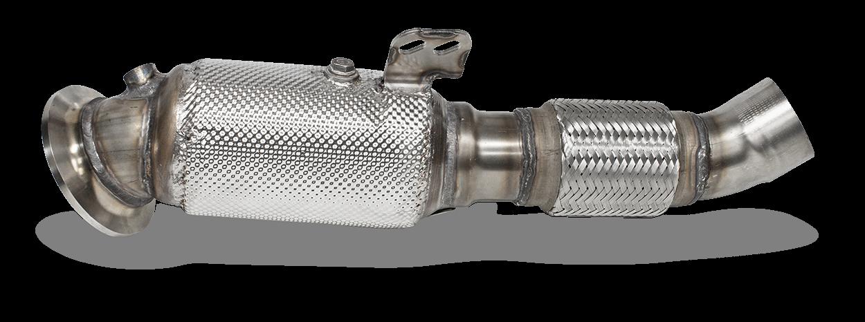 HJS Downpipe für B58 Motor mit 300 Zellen Metallkat und Straßenzulassung